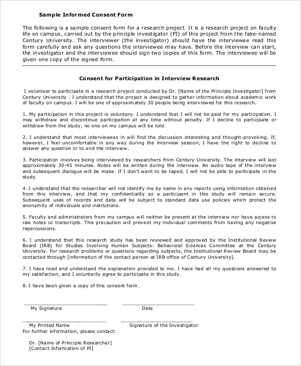 informed consent template for research - 28 images - best photos - research consent form template