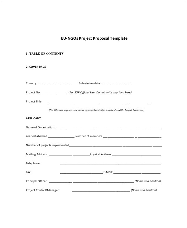 15+ Sample Project Proposals Sample Templates - project proposal template