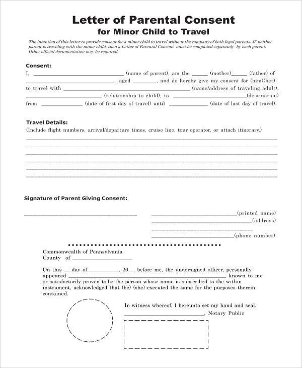 8+ Sample Consent Forms Sample Templates