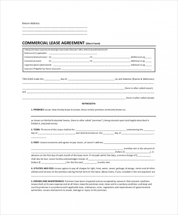 10+ Lease Agreement Samples, Templates, Examples