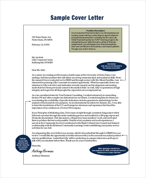 sample finance internship cover letter radiovkm