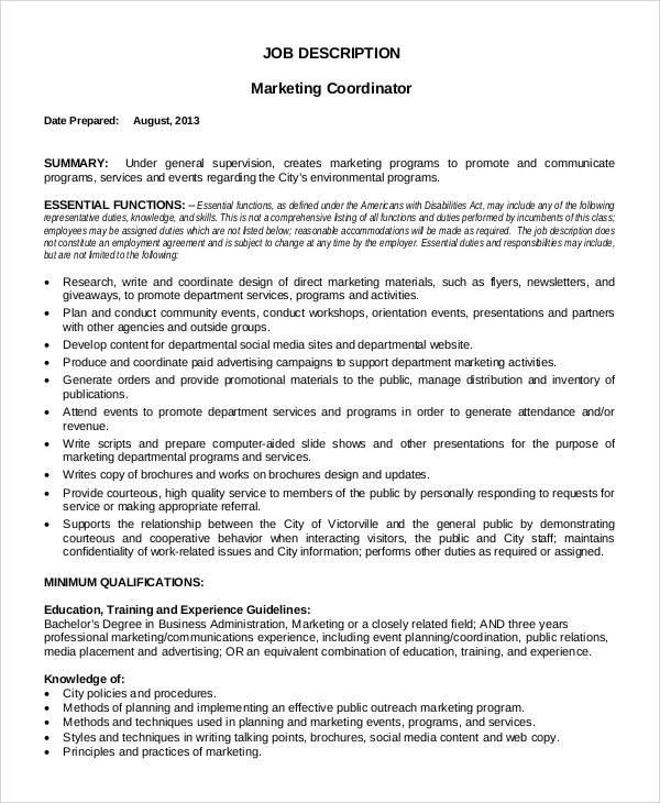 Media Planner Job Description  NodeCvresumePaasproviderCom