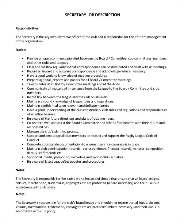 medical secretary job description | node2004-resume-template ...