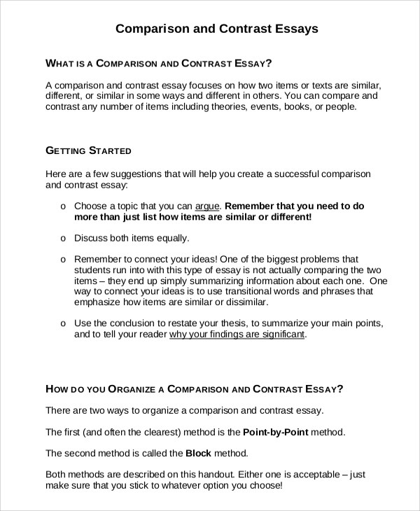 Compare contrast essay example ambition in apprenticeship Essay - how to make a compare and contrast essay