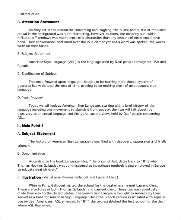 Informative Speech Example - 9+ Samples in PDF