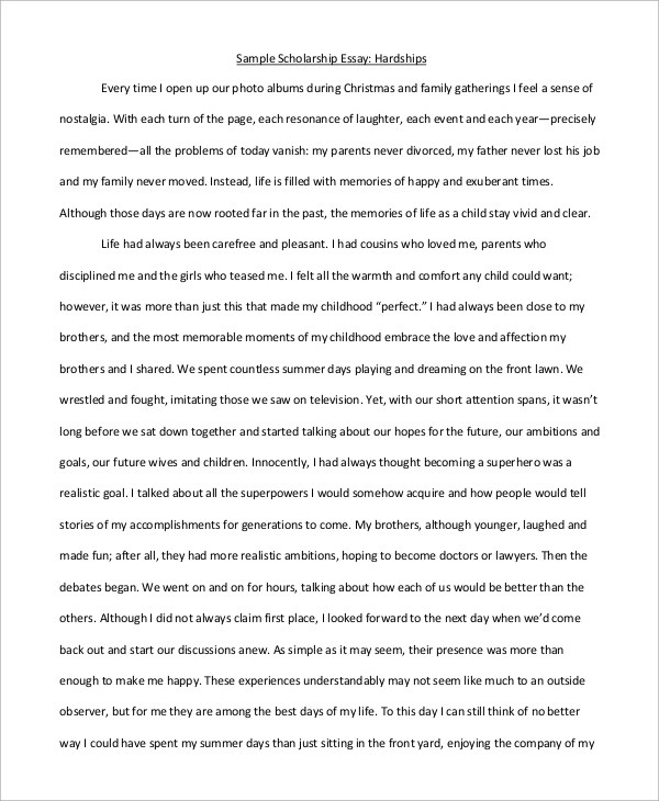 Sample Scholarship Essay Sample Engineering Scholarship Essay - scholarships on resume