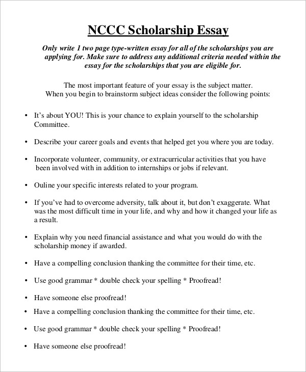 financial need scholarship essay example resume cv cover letter - Scholarship Essay Example