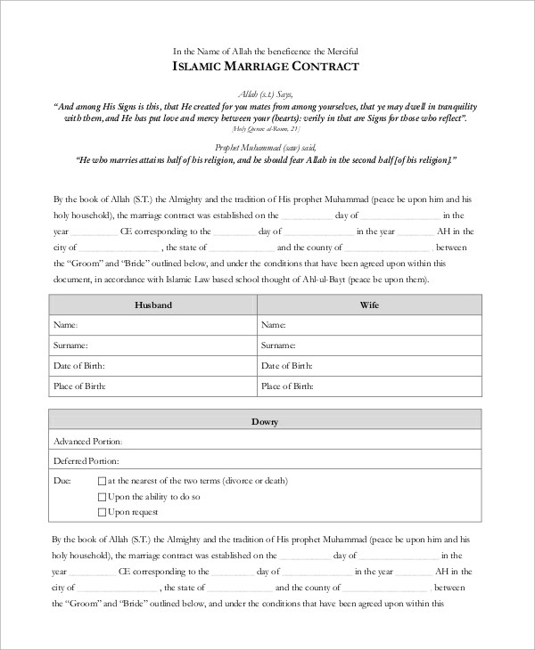 marriage contract - solarfm - marriage contract