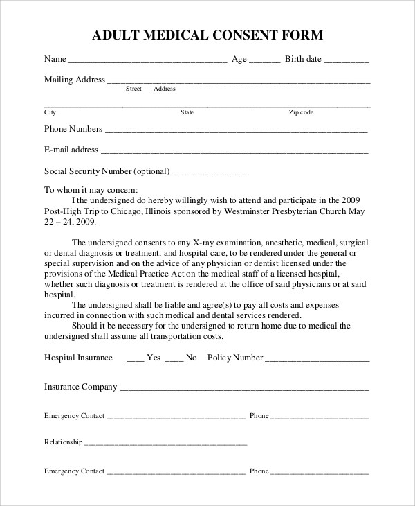 medical release form - medical release form sample