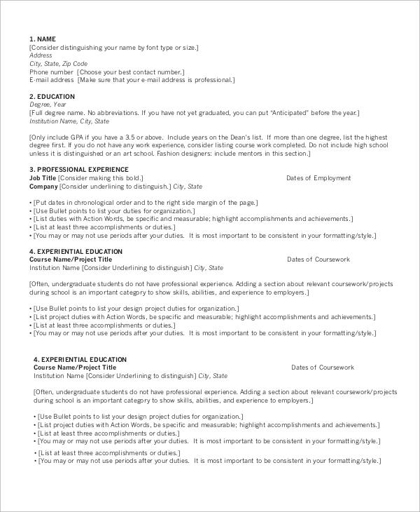 resumes basic resume examples