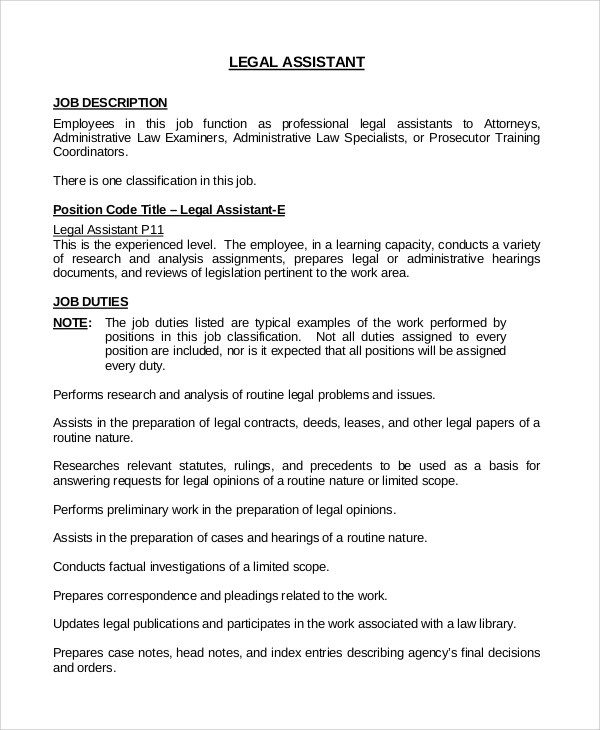 executive assistant job description sample - Trisamoorddiner