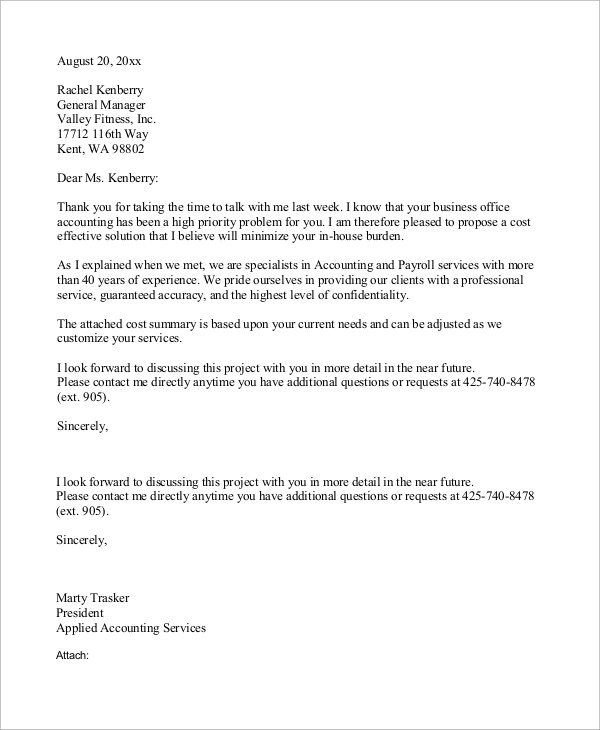 9+ Business Letter Examples Sample Templates
