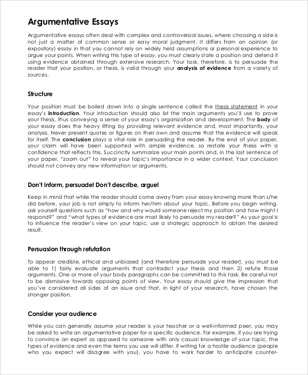 Good argumentative essay Coursework Service