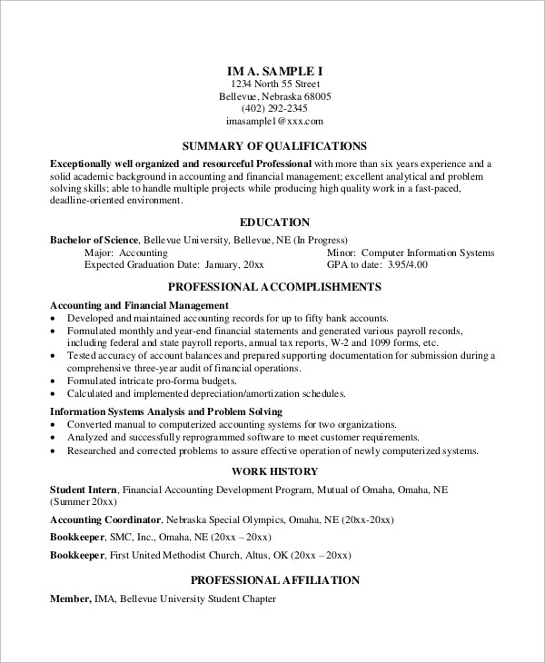 8+ Basic Resume Examples Sample Templates - resume examples basic