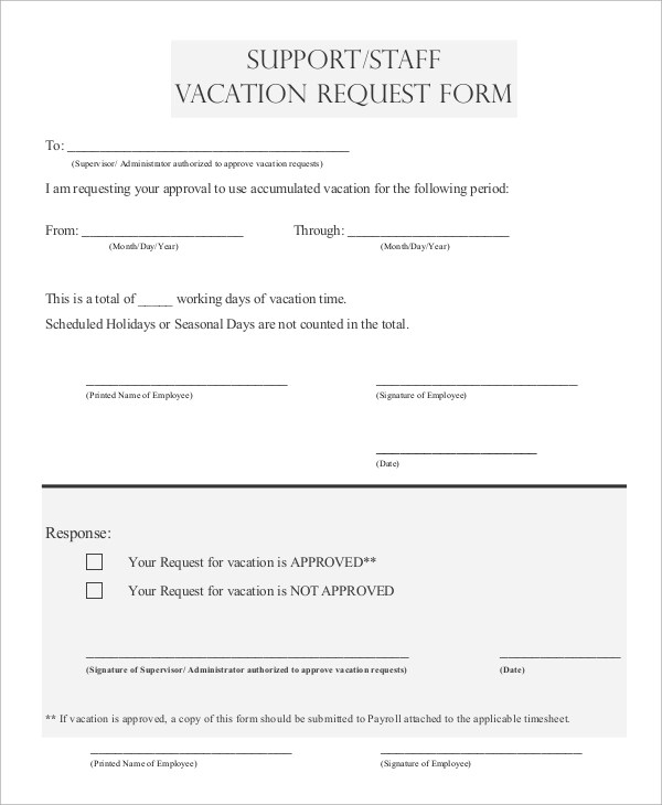 Vacation Request Letter  EnvResumeCloudInterhostsolutionsBe