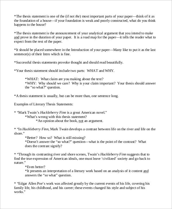 simple essay sample