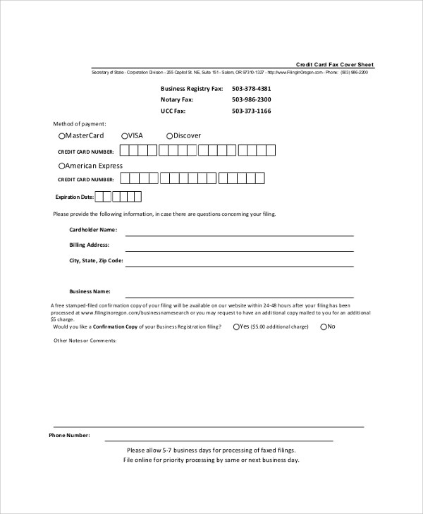 Cover Sheet Example - 9+ Samples in Word, PDF - fax sheet example