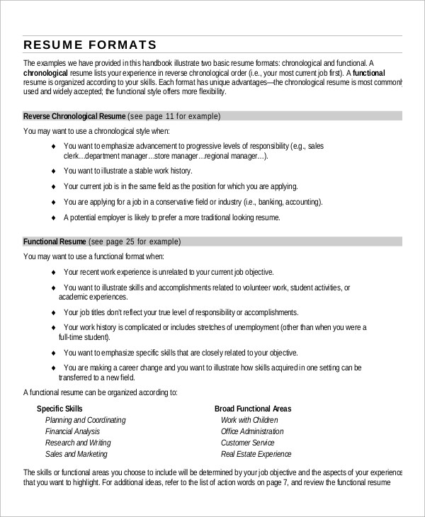 9+ Simple Resume Examples Sample Templates - example of basic resume
