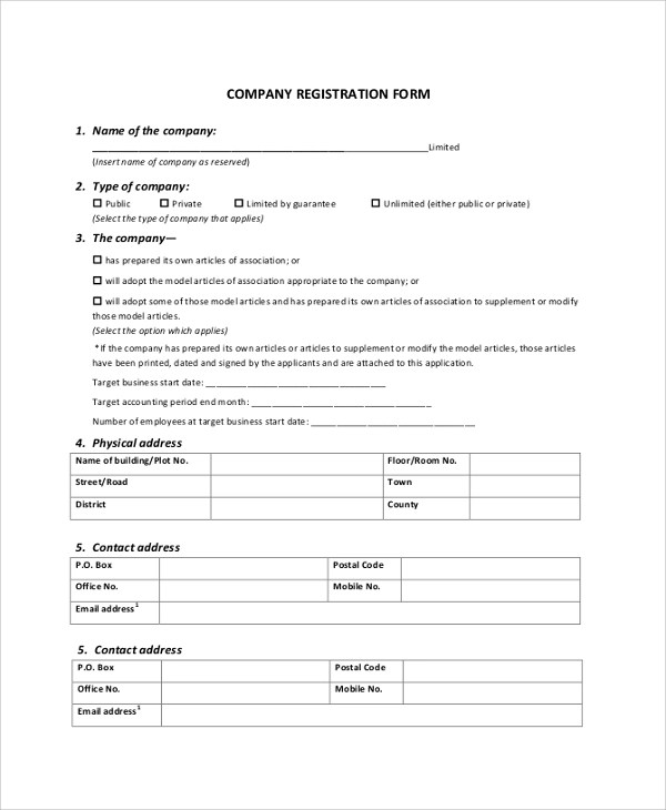 8+ Registration Form Samples, Examples, Templates