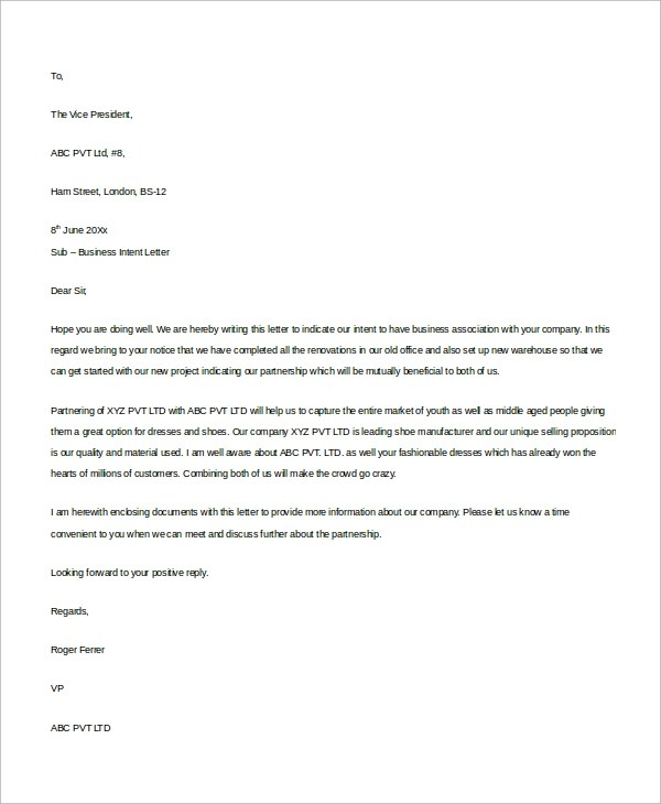 8+ Business Letter Examples  Templates Sample Templates