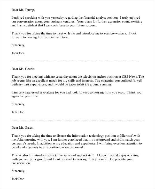 7+ Professional Thank You Letter Samples Sample Templates