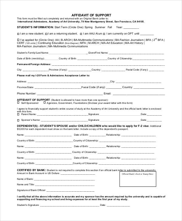 Affidavit Of Support i 864 form 2018 affidavit of support how to