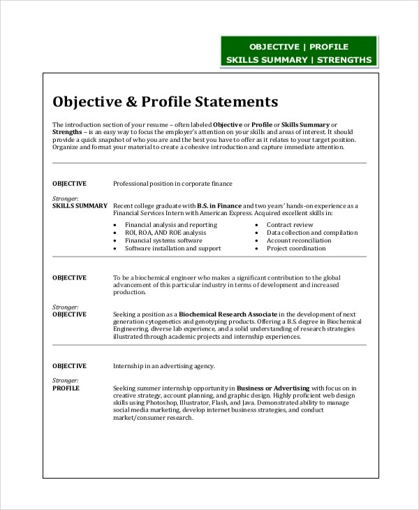 resume objective statement engineering resume objective statement