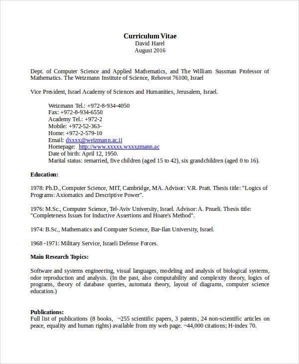 computer science teacher resumes - Onwebioinnovate