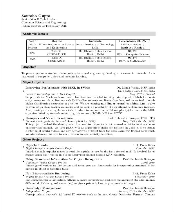 resume templates data science