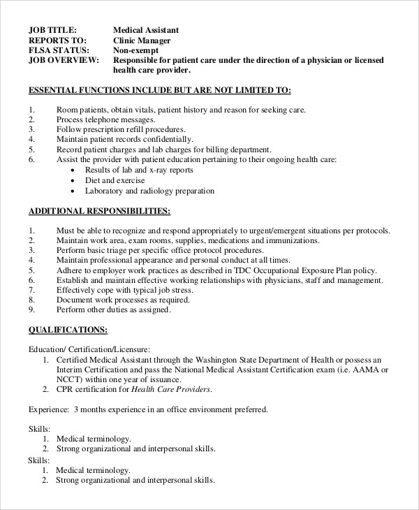 Sample Office Assistant Job Description - 8+ Examples in PDF, Word