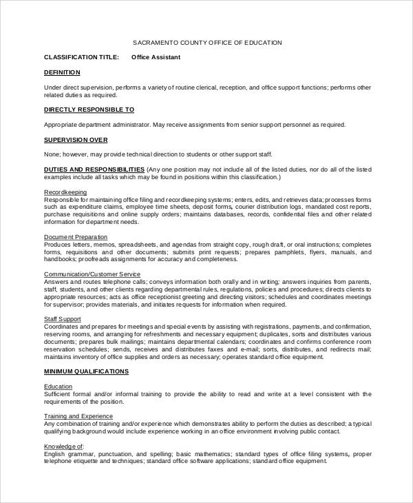 medical assistant description resume