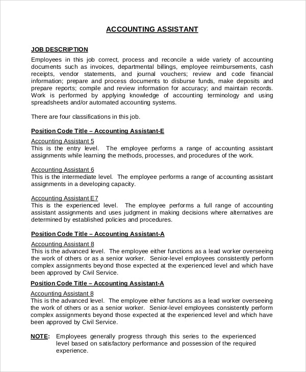 8+ Office Assistant Job Description Samples Sample Templates
