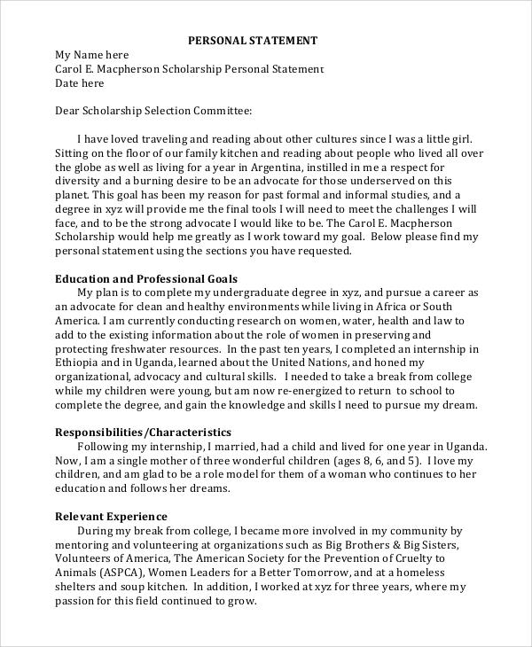 college personal statement format - Seatledavidjoel
