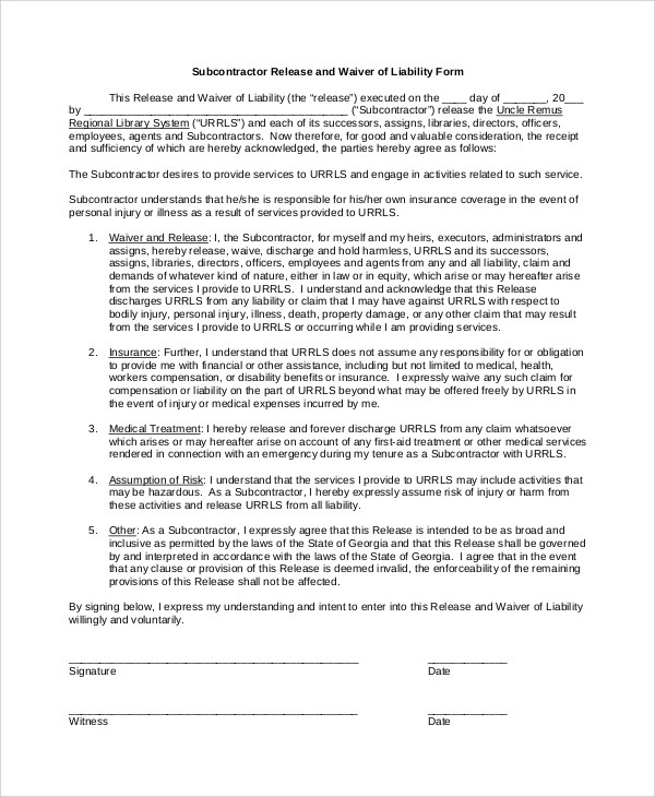 8+ Waiver of Liability Samples Sample Templates - liability waiver forms