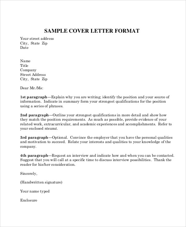 8+ Sample Business Letter Formats - PDF, Word