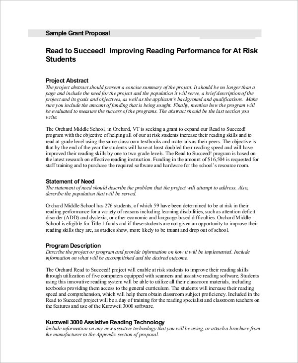Proposal Example - 8+ Samples in Word, PDF - proposal example