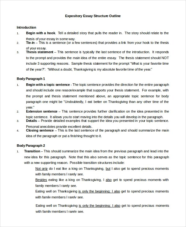 outline of expository essay unv rs topic expository essay outline - expository essays