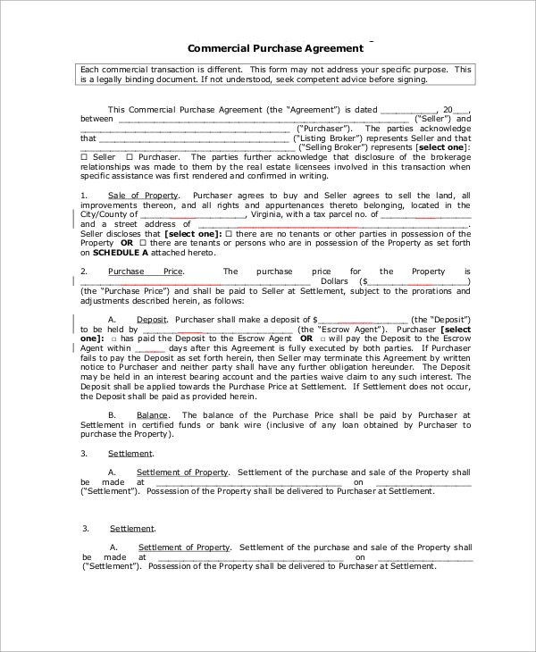 Commercial Real Estate Purchase Agreement  NodeCvresume