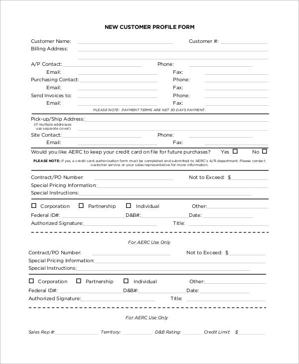 8+ Sample Customer Profiles Sample Templates