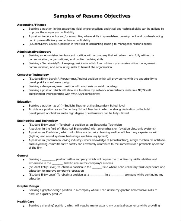 Example Of Resume 9 Samples In Word Pdf Healthcare Resume Objective  Examples Examples Of Healthcare  Healthcare Resume Objective