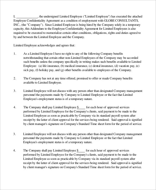 sample nanny contract template datariouruguay - standard employment agreement