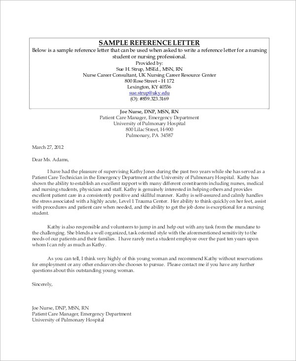 Sample Employment - 43+ Examples in Word, PDF - example reference letter for employee