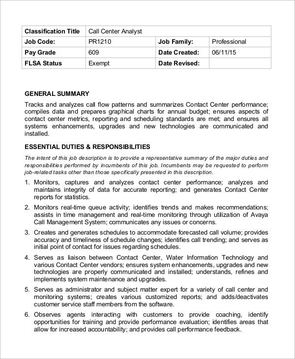 Sample resume call center executive