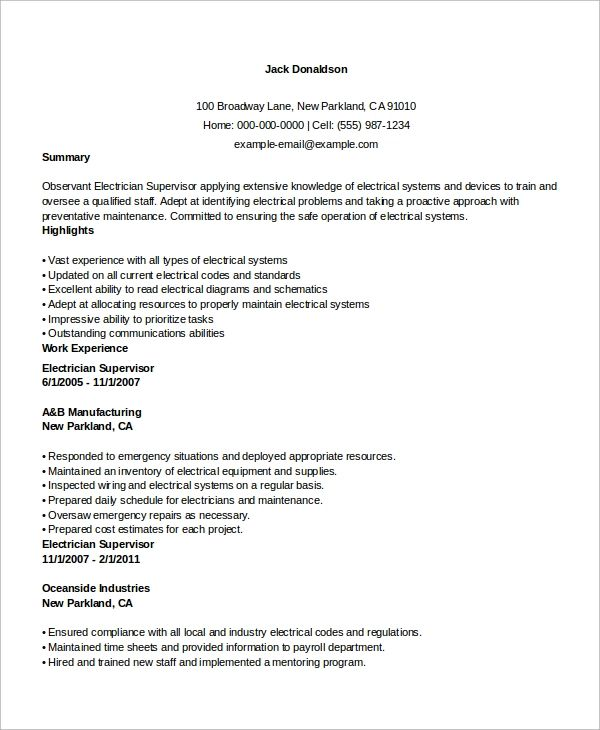 work history resume format