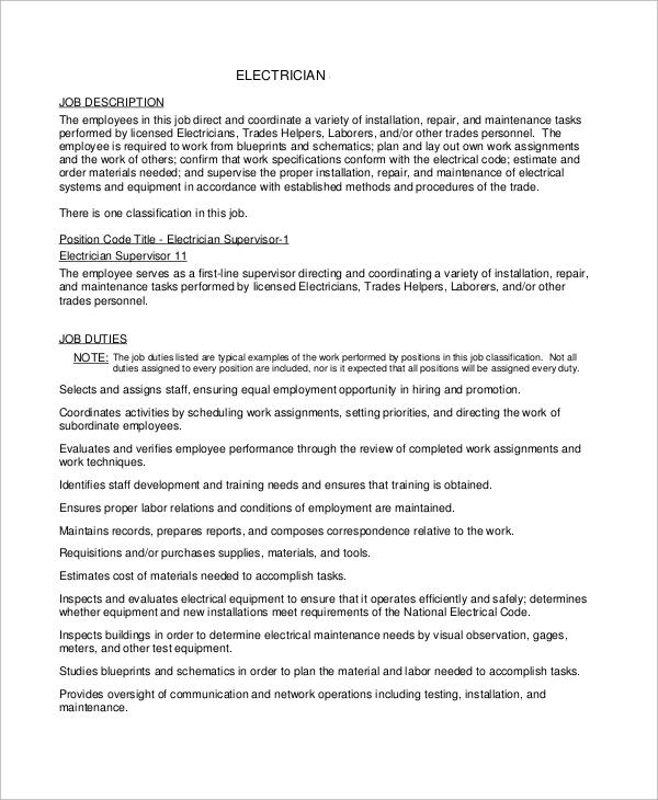 skills description for resume examples