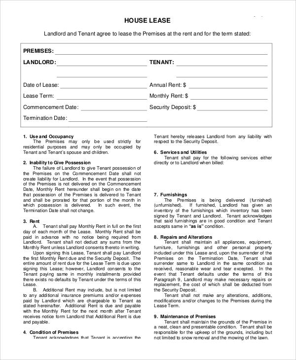 home rental agreement form - Tulumsmsender