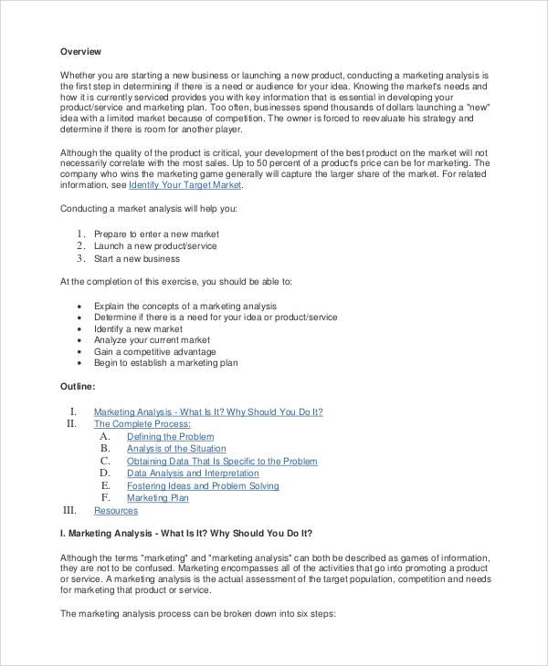 Sample Marketing Analysis 12+ marketing plan samples sample