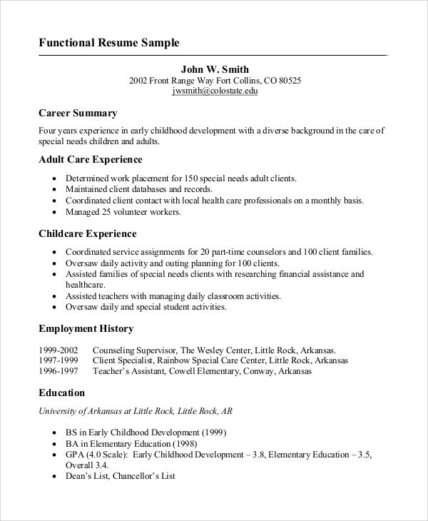 resume college project examples
