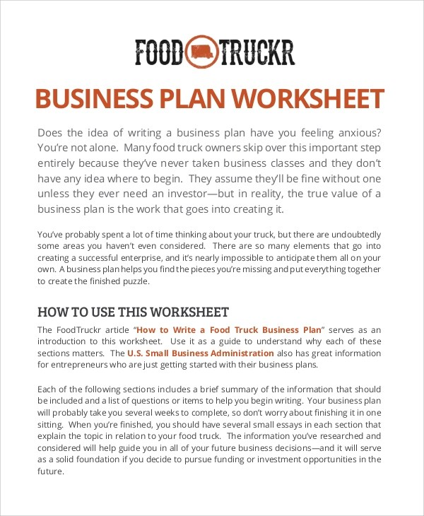 12+ Sample Food Truck Business Plans - PDF, Word, Apple Pages