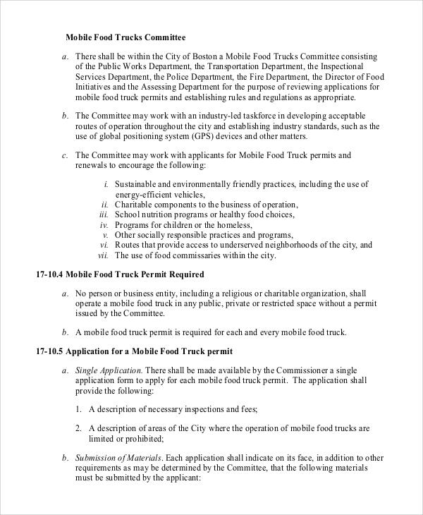 11+ Sample Food Truck Business Plans \u2013 PDF, Word, Pages Sample - food truck business plan